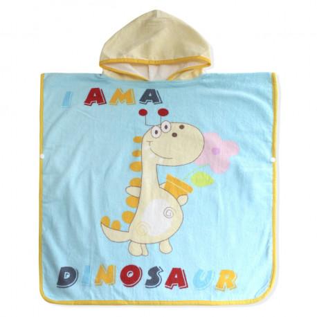 Полотенце пончо. Динозаврик