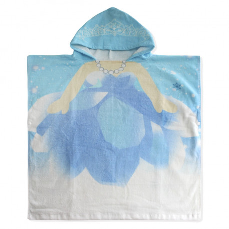 Полотенце пончо. Снежная королева