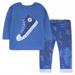 Костюм для мальчика,синий, реглан и штаны. Кед.