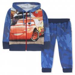 Спортивный костюм для мальчика, синий. Тачки.