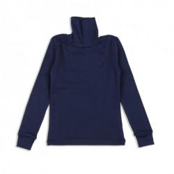 Гольф (водолазка) школьная темно-синяя, с вышивкой.