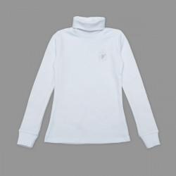 Гольф для девочки, с вышивкой, белый.
