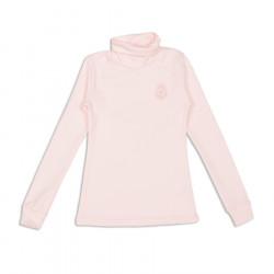 Гольф для девочки, с вышивкой, розовый.