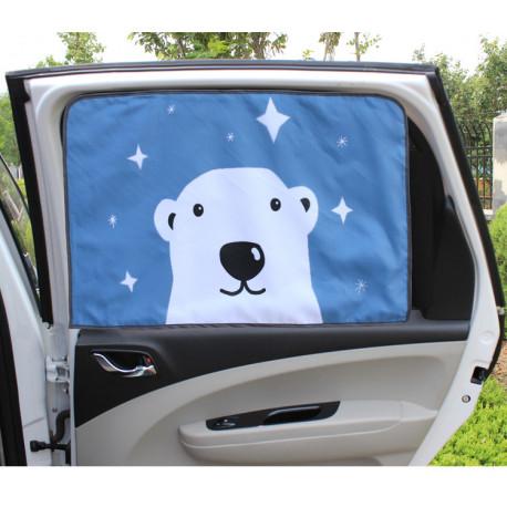 Защитная шторка для автомобиля. Медведь.