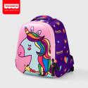 Рюкзак для девочки, розовый. Единорог.
