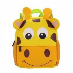 Детский рюкзак, желтый. Жираф большой.