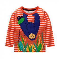 Кофта для мальчика, оранжевая. Ленивец.