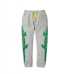 Штаны для мальчика, серые. Крокодилы.