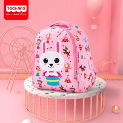 Рюкзак для девочки, розовый. Зайчик.