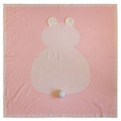 Вязаный плед, детский, розовый. 90*90 см.