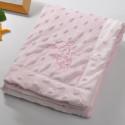 Плед детский, розовый. 75*100 см. Барашек.