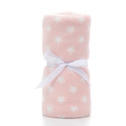 Плед детский, розовый. 75*100 см. Мелкая звездочка.