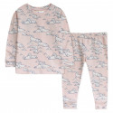 Пижама для девочки, розовая. Тюлени.
