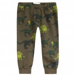 Штаны для мальчика, темно-зеленые. Дино.