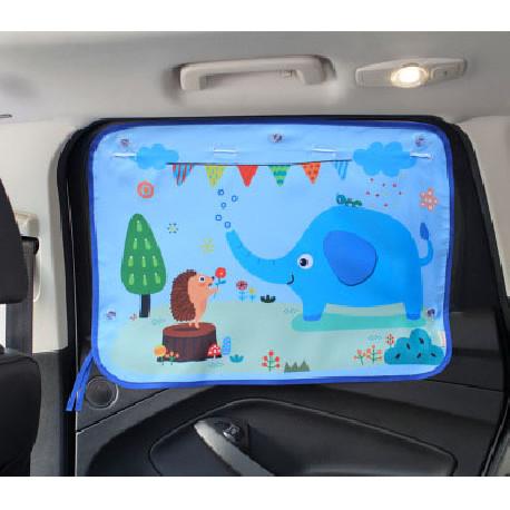 Защитная шторка для автомобиля. Слон и ежик.