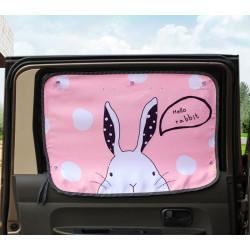 Защитная шторка для автомобиля. Кролик.