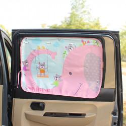 Защитная шторка для автомобиля. Розовый слон.