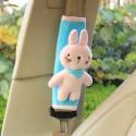 Накладка мягкая на ремень безопасности. Белый заяц.