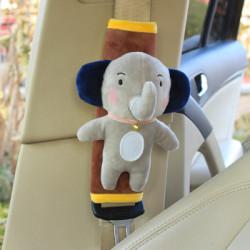 Накладка мягкая на ремень безопасности. Слоник.