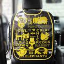 Защитный чехол на спинку сидения авто, желтый. Зверьки.