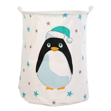 Корзина для игрушек, белая. Пингвин.