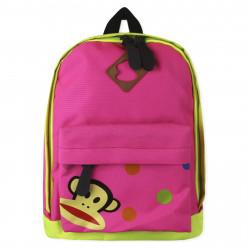 Детский рюкзак. Обезьянка. Розовый.