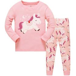 Пижама для девочки, пудра. Единорожка.