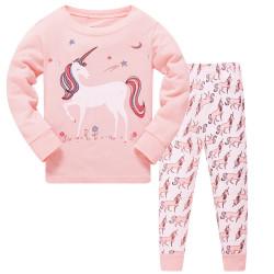 Пижама для девочки, пудра. Единорог.
