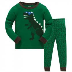 Пижама для мальчика, зеленая. Дино.