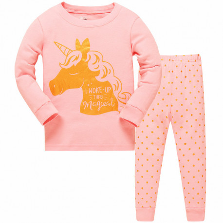 Пижама для девочки, персиковая. Волшебство.