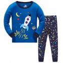 Пижама для мальчика, синяя. Космос.