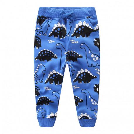 Штаны для мальчика, синие. Динозавры.