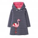Платье для девочки, синее. Фламинго.