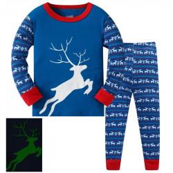 Пижама для мальчика, синяя. Олень.