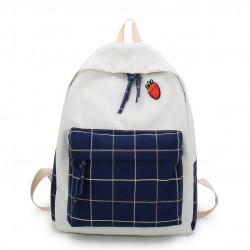 Рюкзак для девочки, спортивный, белый с синим.