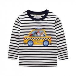 Кофта для мальчика, белая. Такси.