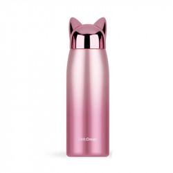 Термос детский, розовый. Лиса 300 мл.