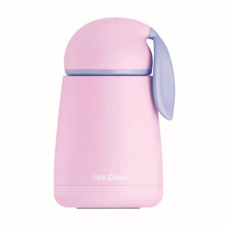 Термос детский, розовый. Зайчик. 300 мл.