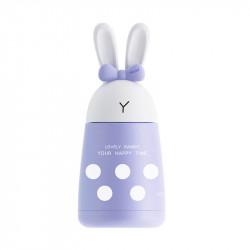 Термос детский, фиолетовый. Милый кролик. 300 мл.