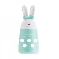 Термос детский, мятный. Милый кролик. 300 мл.