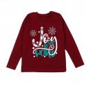 Джемпер детский, бордовый, новогодний. Snowflake