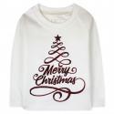Джемпер для девочки, белый, новогодний. Christmas.