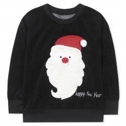 Кофта велюровая, черная. Дед Мороз.