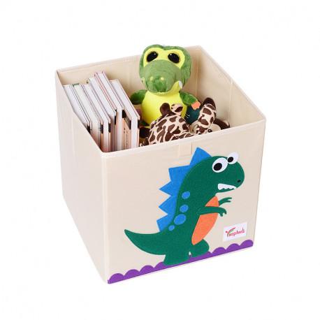 Складной ящик для игрушек. Динозавр.