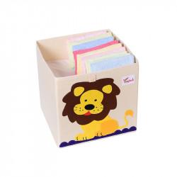 Складной ящик для игрушек. Лев.