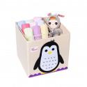 Складной ящик для игрушек. Пингвин.