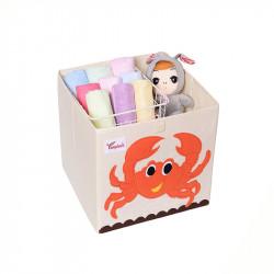 Складной ящик для игрушек. Краб.