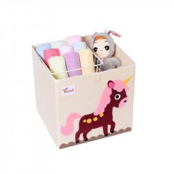 Складной ящик для игрушек, коричневый. Пегас.
