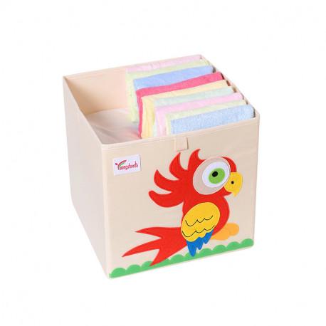 Складной ящик для игрушек. Попугай.