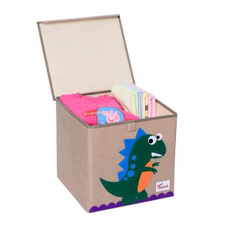 Складной ящик для игрушек с крышкой. Динозавр.